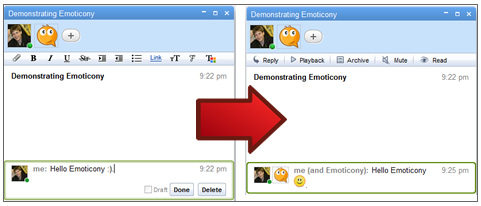 Demonstrating Emoticony